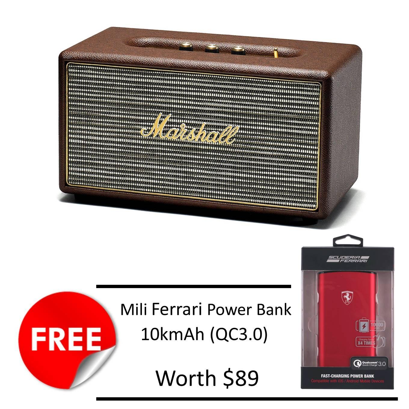 How Do I Get Marshall Stanmore Bluetooth Speaker Brown Free Mili Ferrari 10Kmah Powerbank