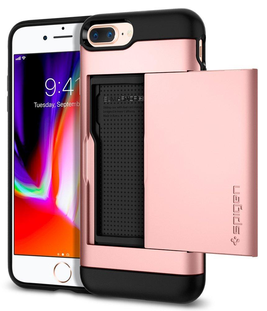 Best Spigen Iphone 8 Plus 7 Plus Slim Armor Cs With Card Slot Case