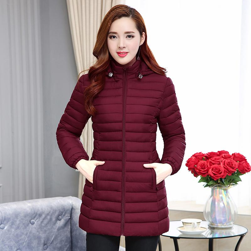 45dc87a4d Winter New Products Cotton-padded Clothes women Korean Style Slim Fit down  Jacket Cotton-padded Clothes Versitile Fashion Mid-length Cotton-padded ...