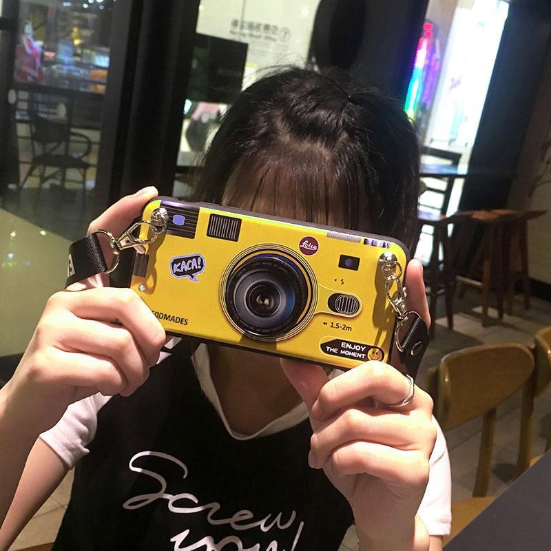 KUTOO Casing HP A53/A57 Softcase R7/R7plus Kamera Selempang Miring