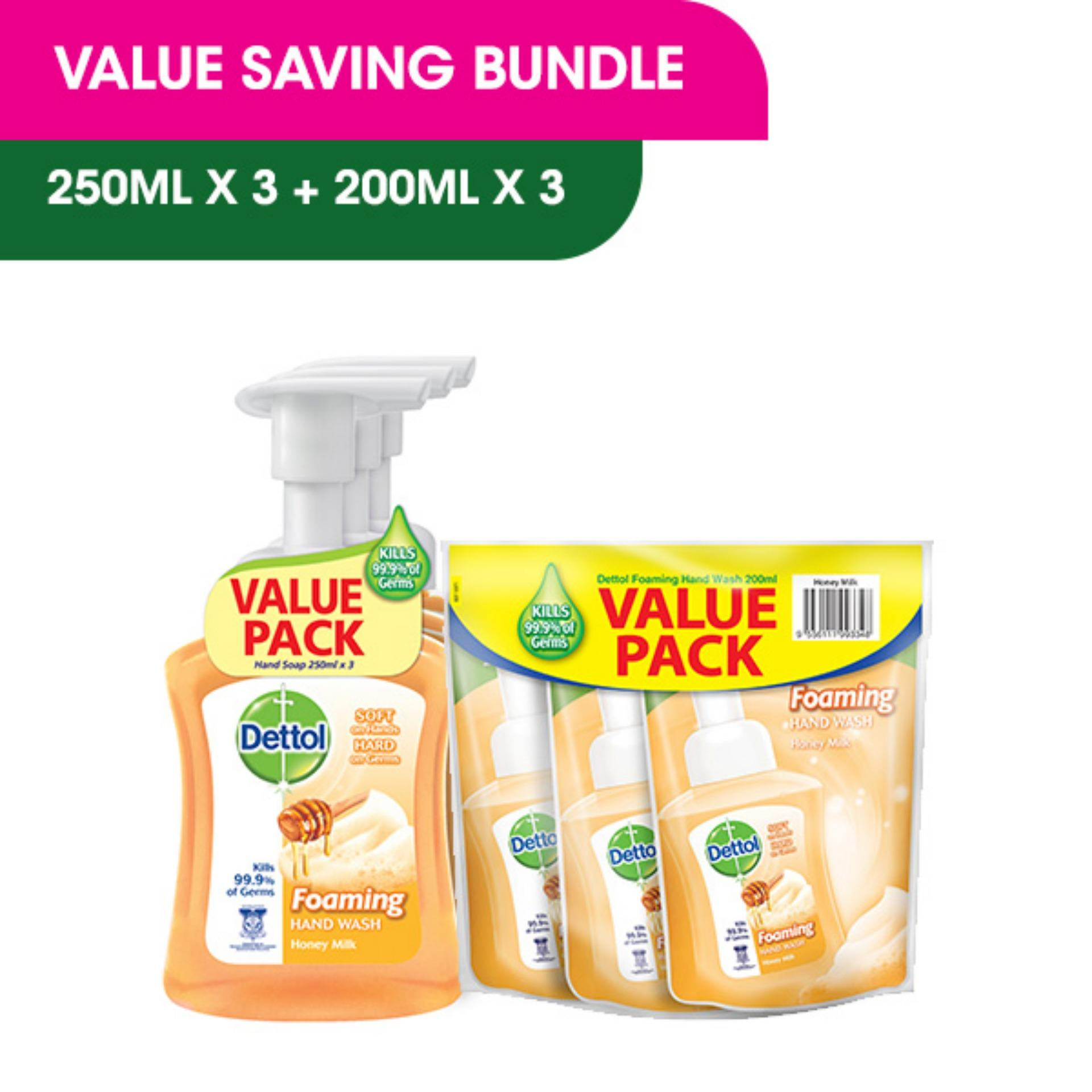 Compare Dettol Anti Bacterial Hand Wash Original Refill Pouch Twin Series Package Foaming Honey Milk 250ml Triple Pack 200ml