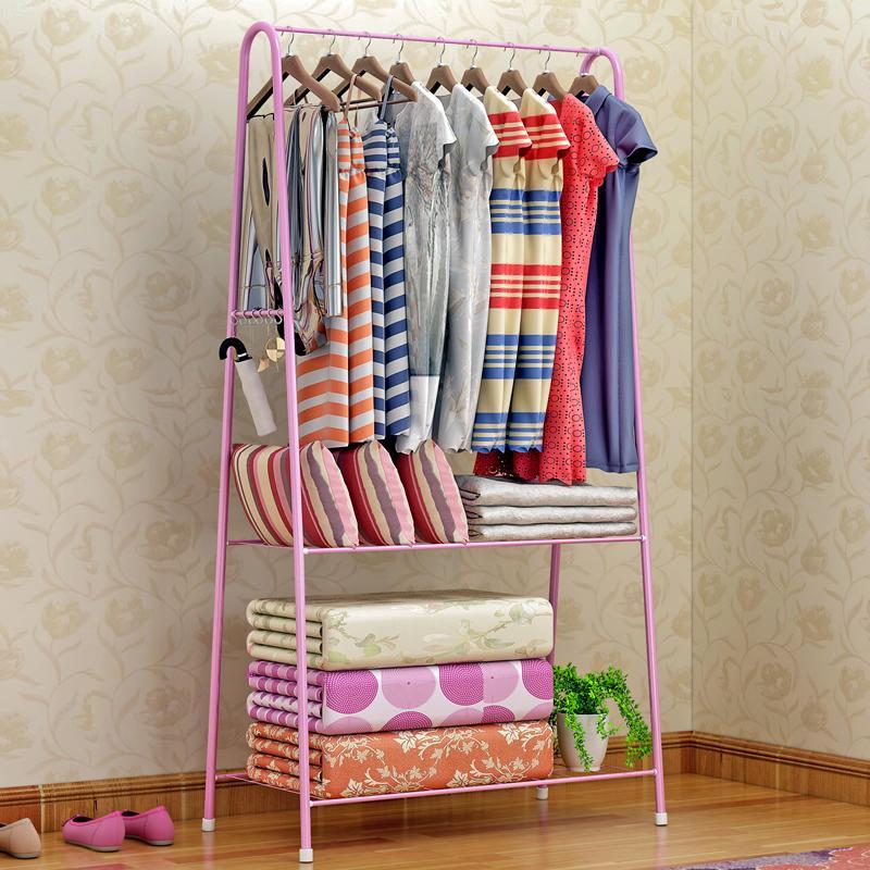 Shome nuo metal bedroom simple hanger, clothes rack