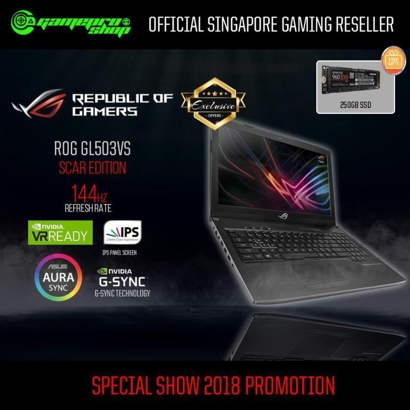 ASUS ROG Strix SCAR GL503VS-EI100T- I7-7700HQ- GTX1070 8GB- 256G PCIe  *GSS PROMO*