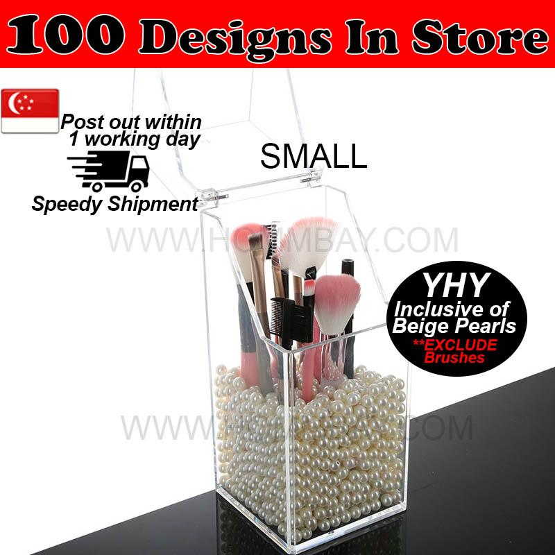 Sale Clear Acrylic Transparent Brush Brushes Make Up Makeup Cosmetic Jewellery Jewelry Organiser Organizer Drawer Storage Box Holder I Small I Yhy Pearls