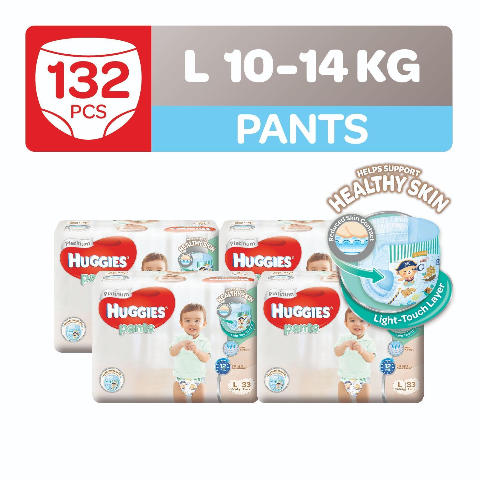 Discount Huggies Platinum Pants L 33Pcs X 4 Packs Singapore
