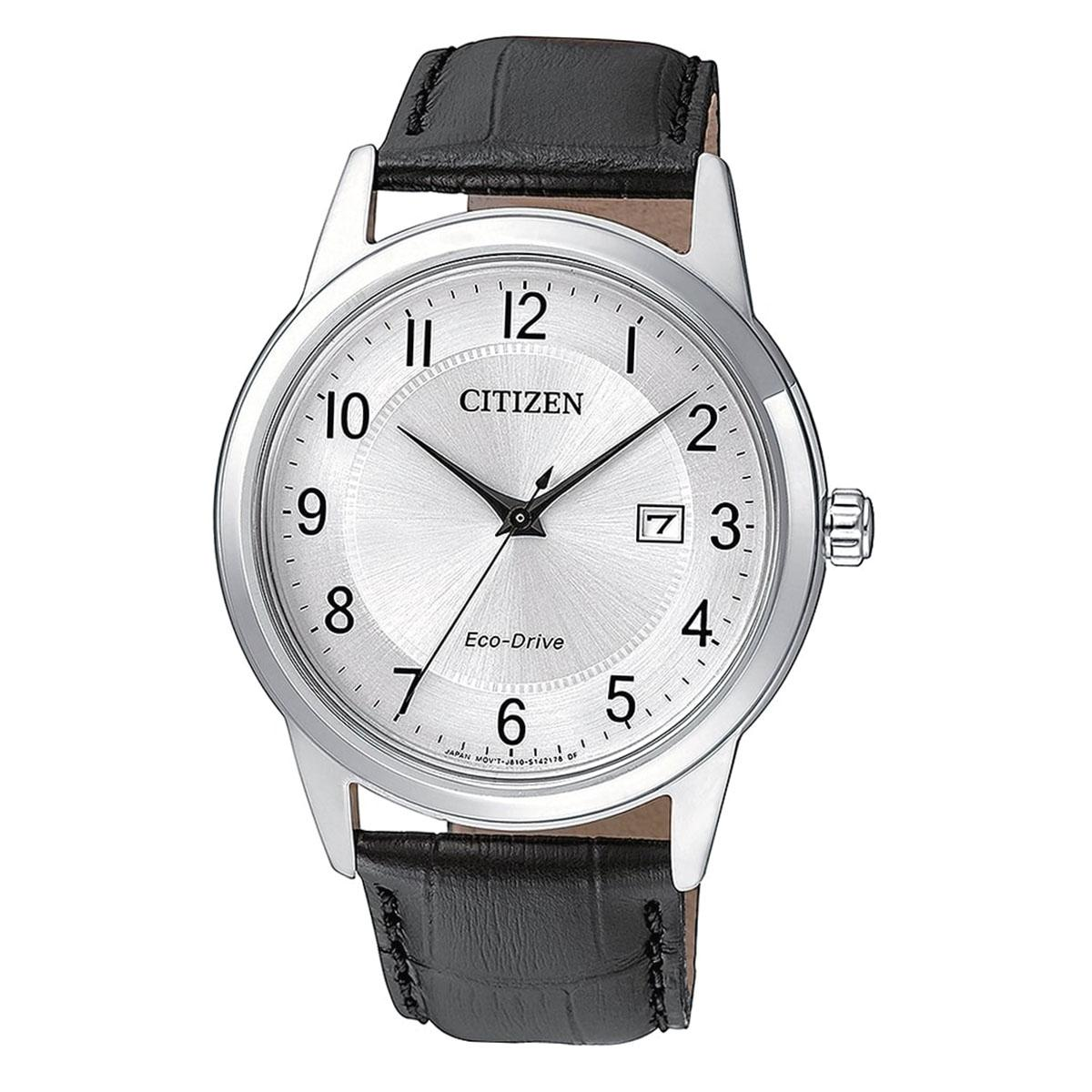 Wholesale Citizen Citizen Eco Drive Black Stainless Steel Case Leather Strap Mens Japan Aw1231 07A