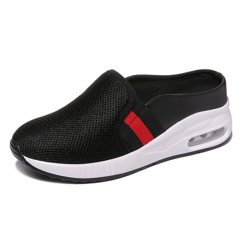 Sepatu Wanita Musim Panas Baru Sepatu Kain Sandal Jepit Permukaan Jala