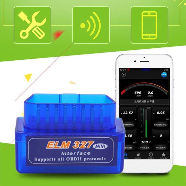 2EST Mini ELM327 OBD2 II Bluetooth Car Diagnostic Tool Portable Auto Scanner 5