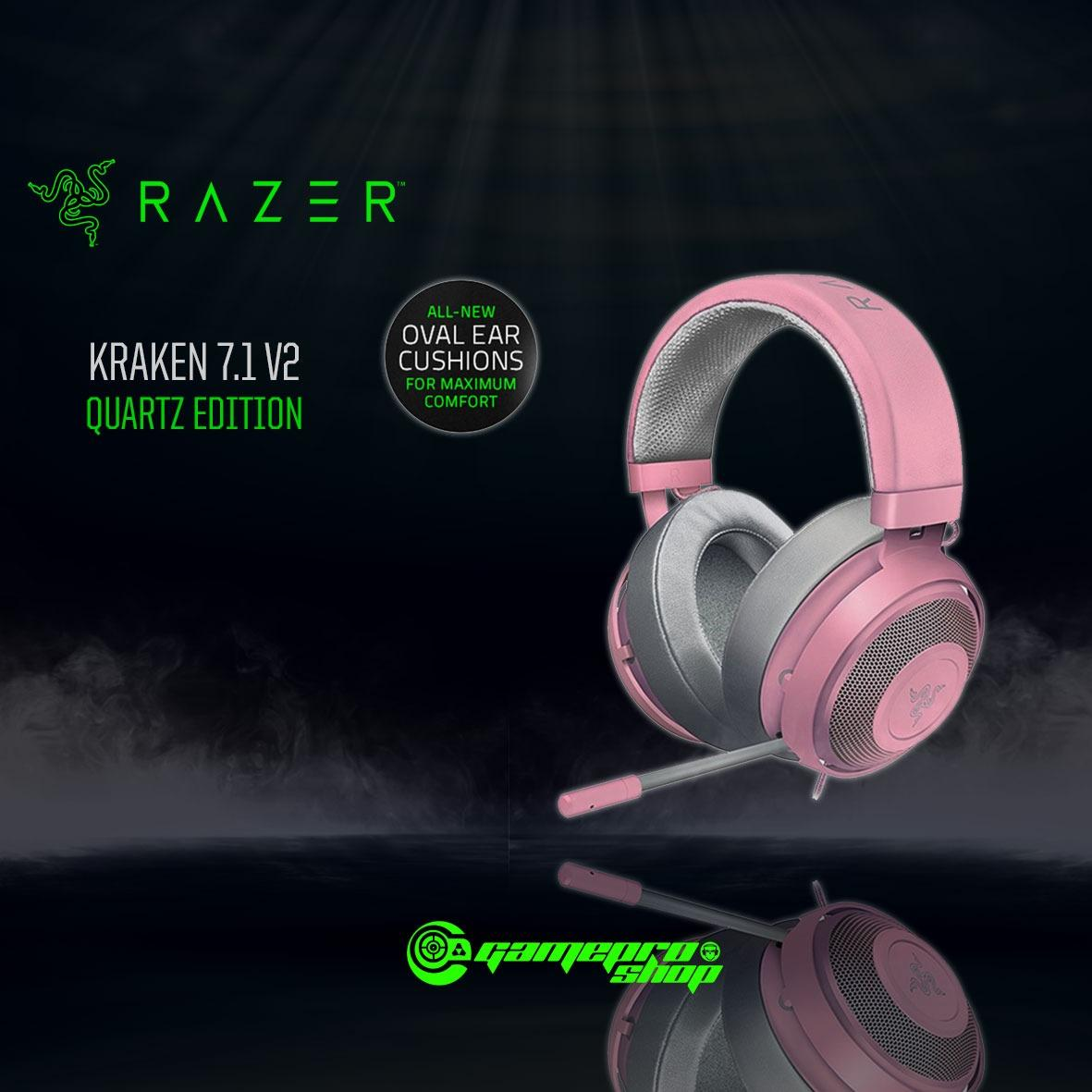 Razer Kraken PRO V2 Gaming Headset (Quartz Edition) OVAL EAR CUSHIONS  *GSS PROMO*