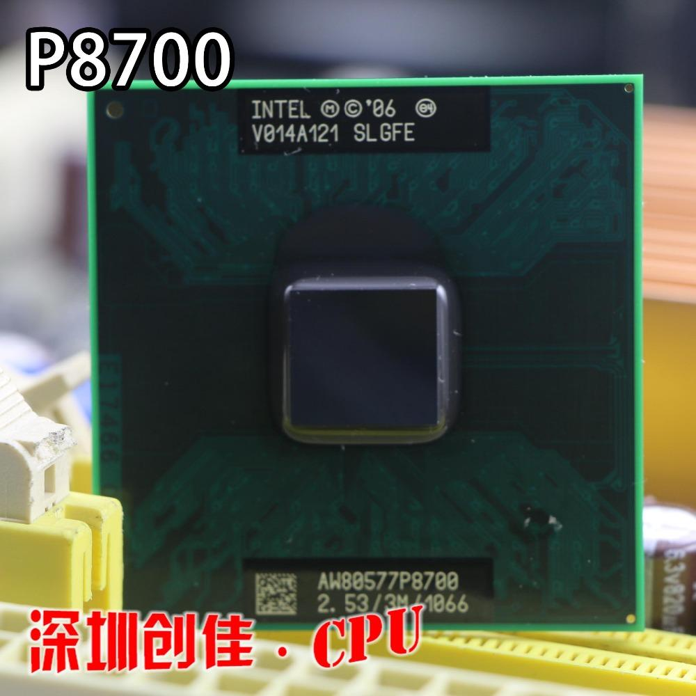 Core 2 DUO Ponsel Intel P8700 Dual Core 2.53 GHz 1066 MHz Socket 478 Prosesor CPU-Intl