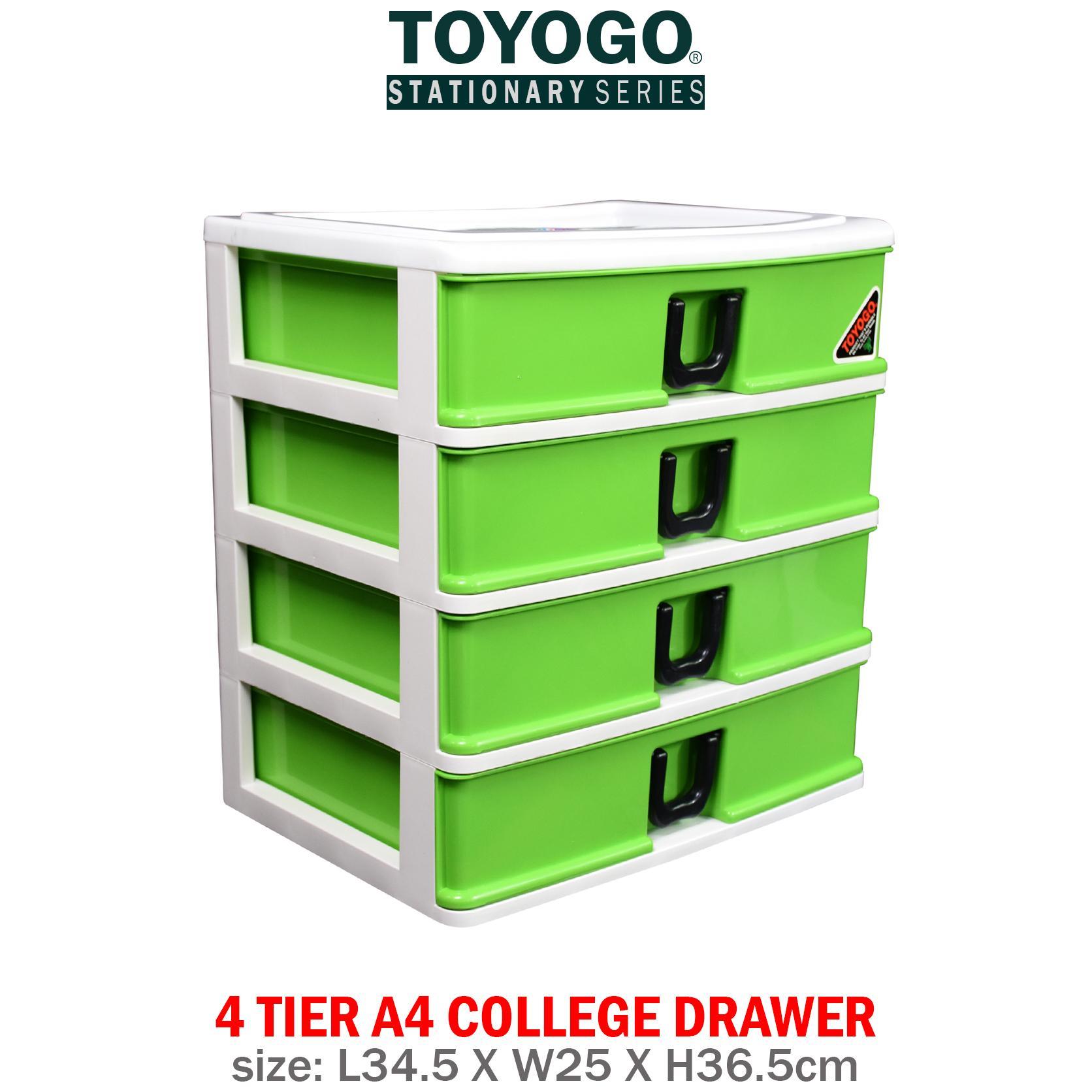 [407-4]TOYOGO - PLASTIC A4 DRAWER STORAGE