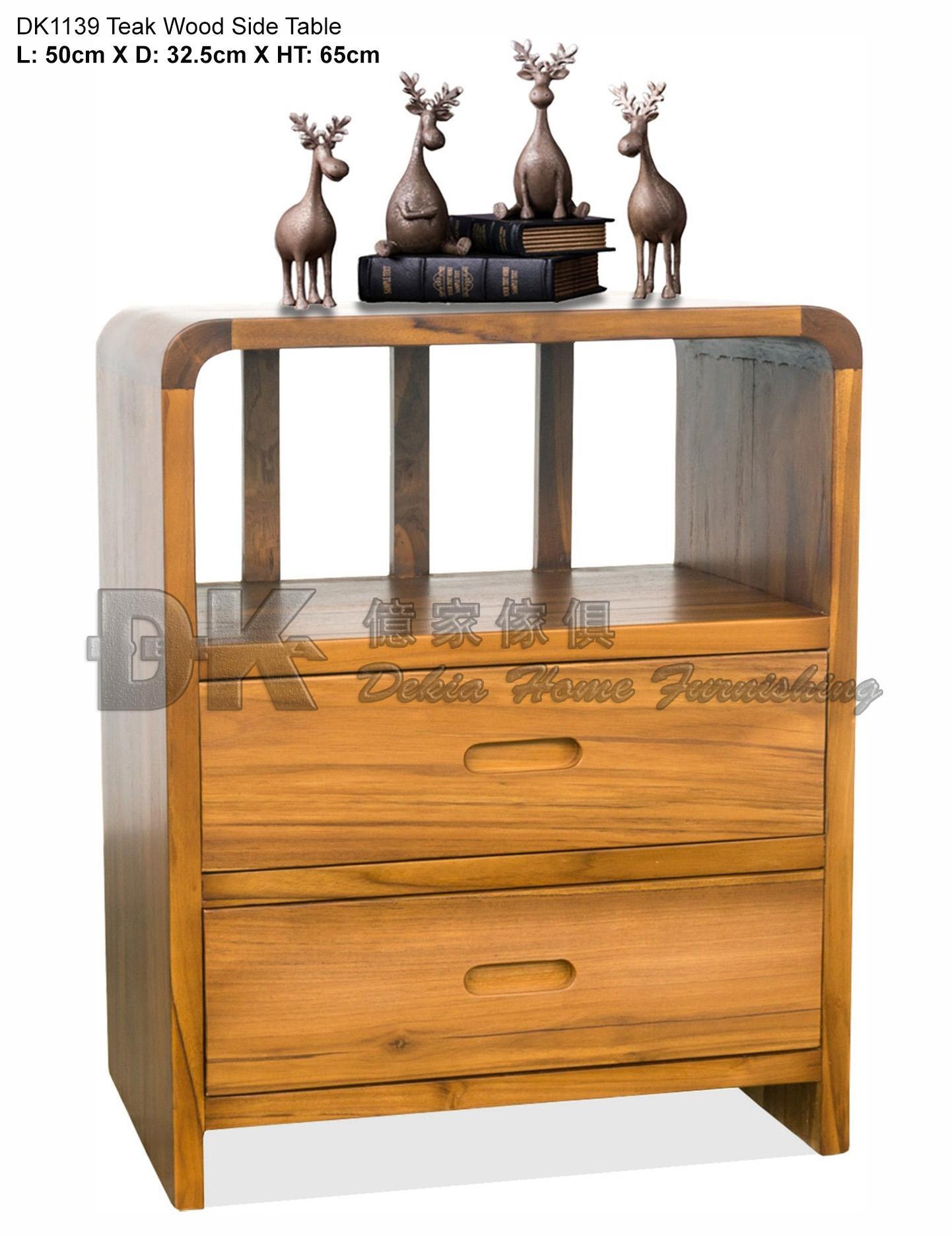 DK1139 Side Table Natural Teak Wood