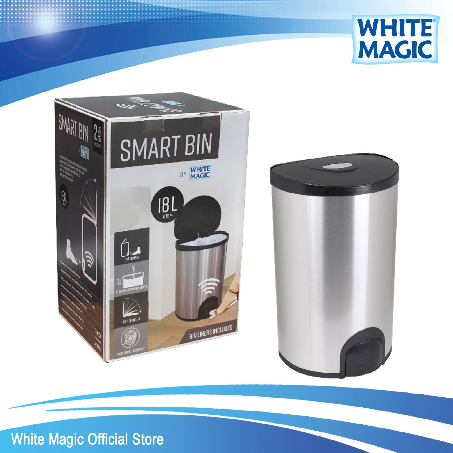 Low Cost White Magic Smart Bin 18L