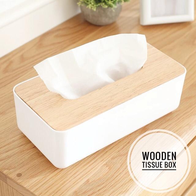 Scandinavian Minimalist Wooden Tissue Box Holder Muji Style