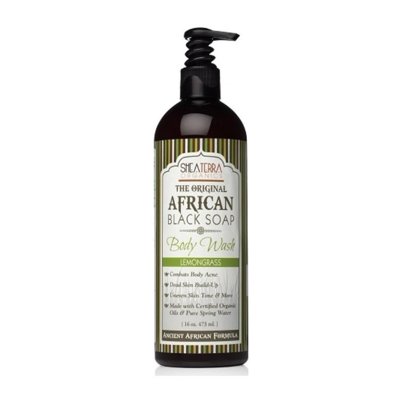 Review Lemongrass African Black Soap Body Wash 16Oz 473Ml Shea Terra Organics