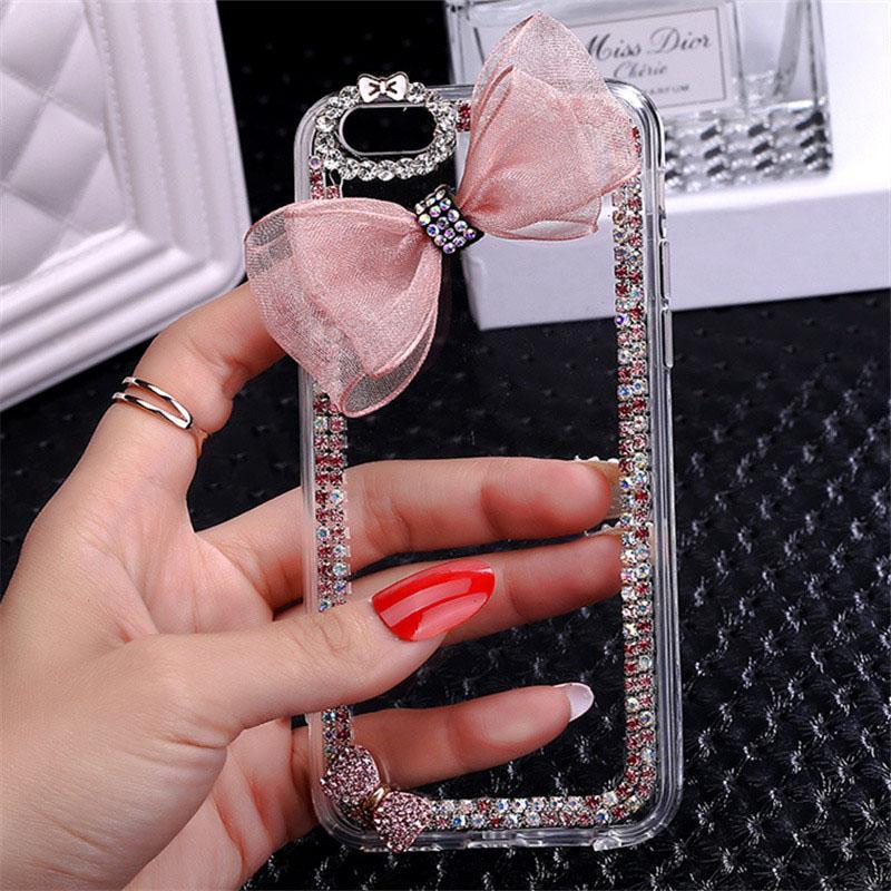 BLING Berlian Imitasi Kristal Berlian Belakang Telepon Case Sarung untuk ZTE Pedang V9 Vita-Internasional