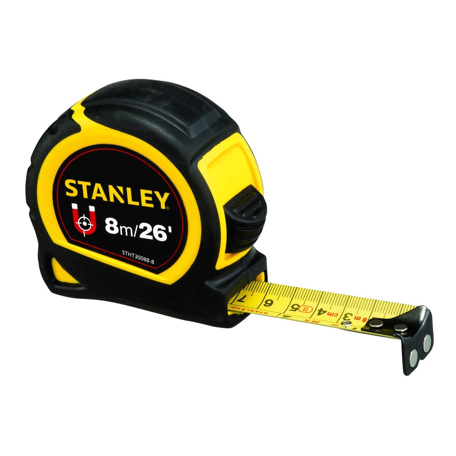 Compare Prices For Stanley Stht30088 8 Protape Magnetic 8M 26 25Mm Tape