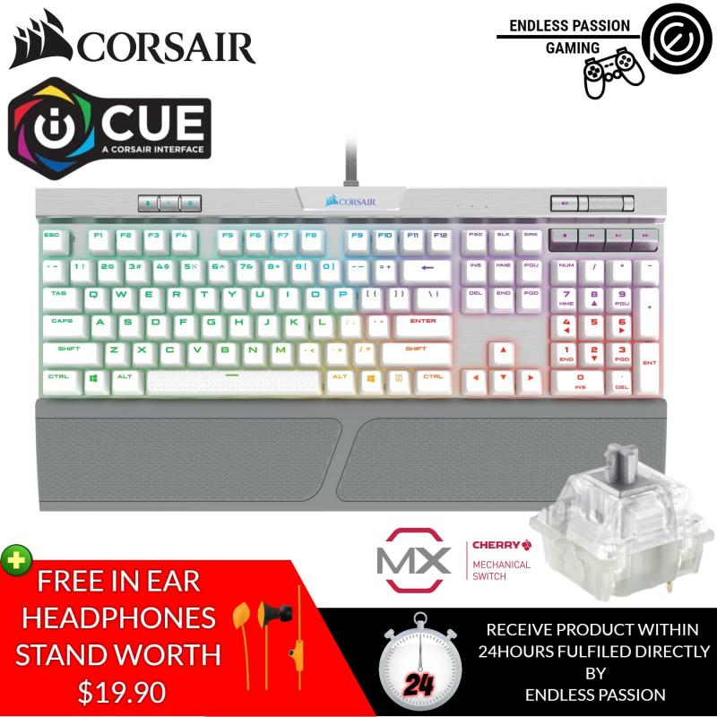 CORSAIR K70 RGB MK.2 SE Mechanical RAPIDFIRE Gaming Keyboard - USB Passthrough & Media Controls - PBT Double-Shot Keycaps - Cherry MX Speed - RGB LED Backlit Singapore
