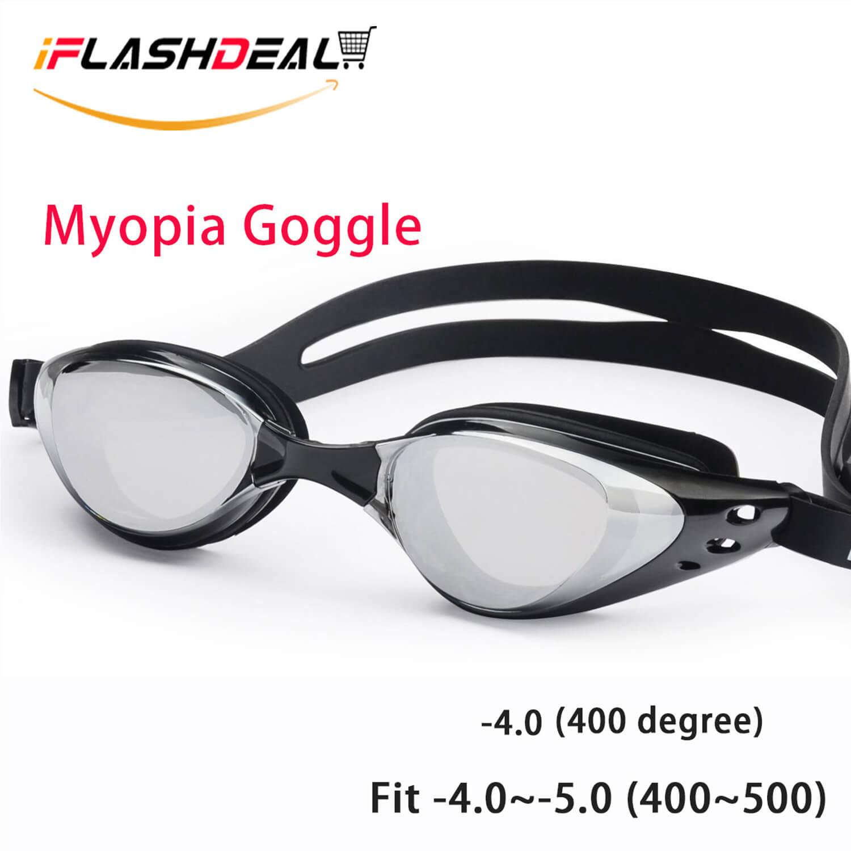 IFlashDeal Kacamata Renang Minus Myopia Anti Fogging