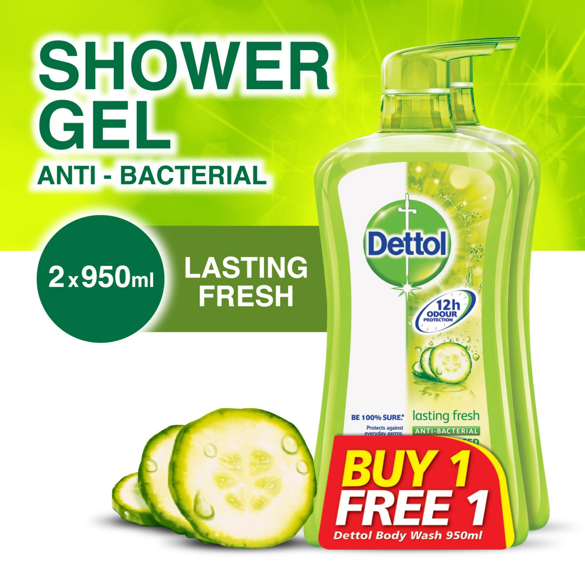 Sale Dettol Lasting Fresh Body Wash 950Ml X 2 Buy One Get One Free Dettol