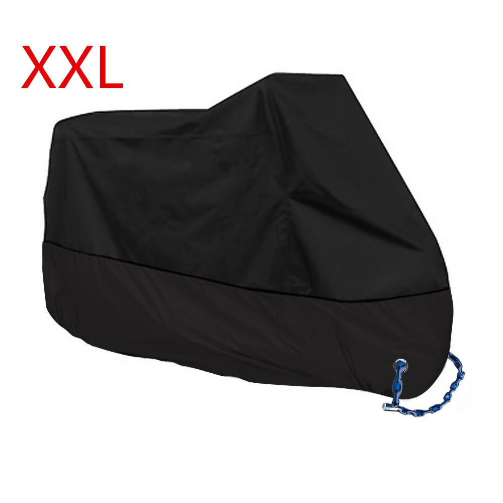 New Motorcycle Motorbike Waterproof Cover Protector Case Cover Rain Protection Breathable Black Color Xxl Intl