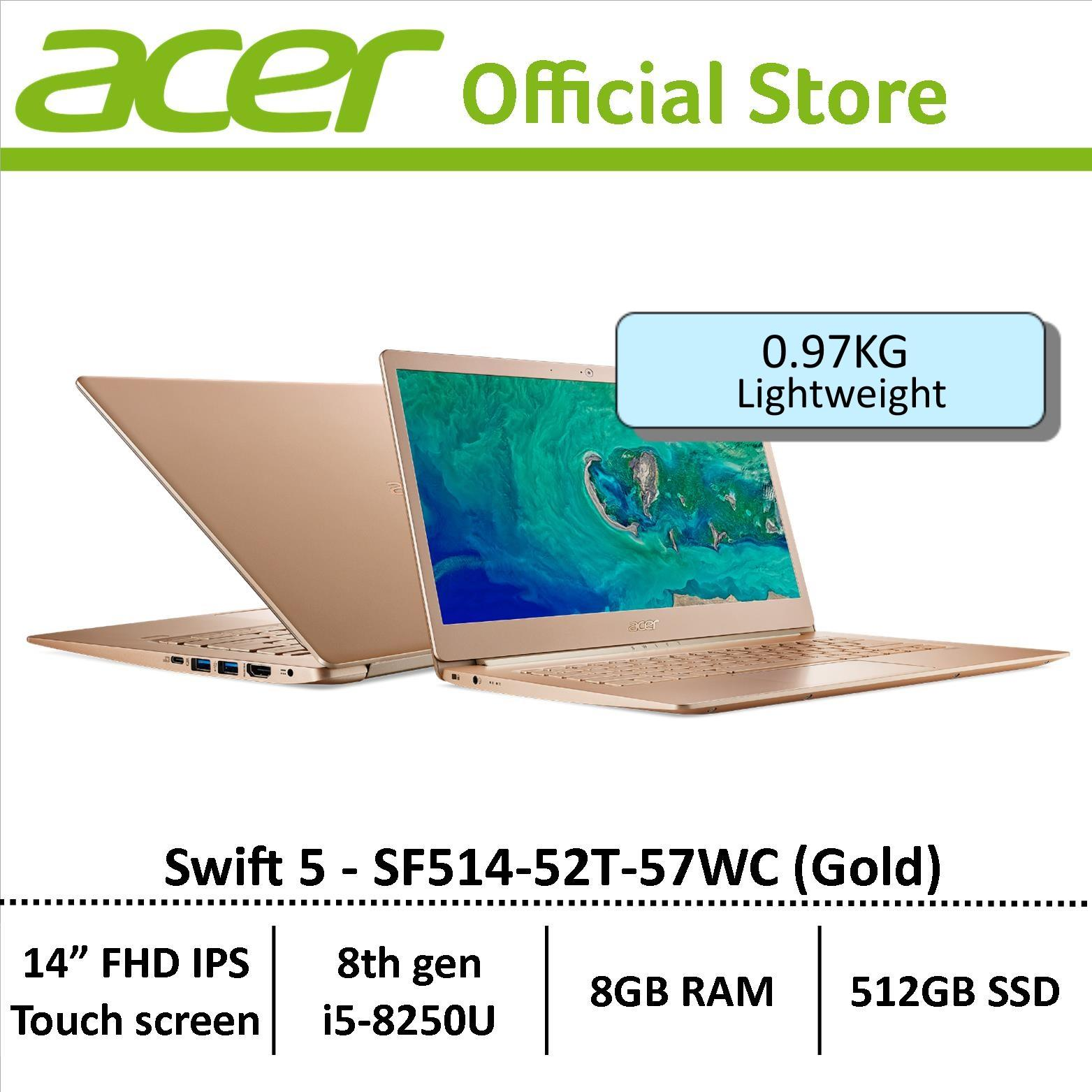 Buy Acer Swift 5 Sf514 52T 57Wc Gold Thin Light Laptop Free Gift With Purchase Singapore