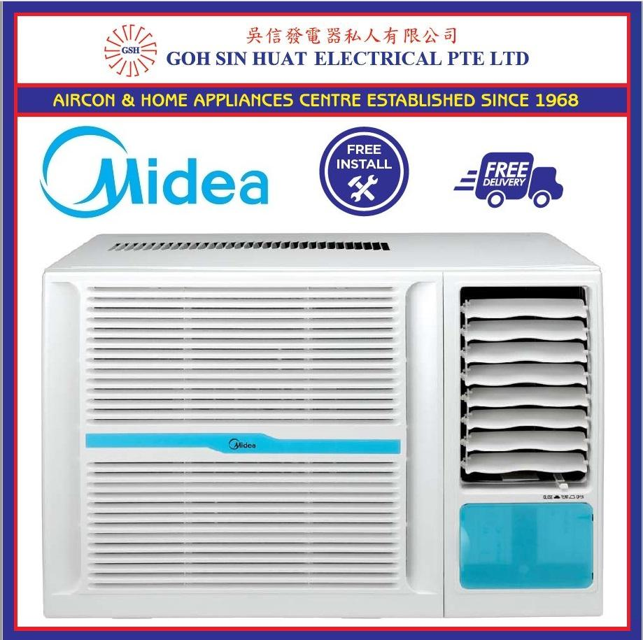 Buying Midea Window Air Conditioner 9000 Btu White W Remote Control Installation And Bracket