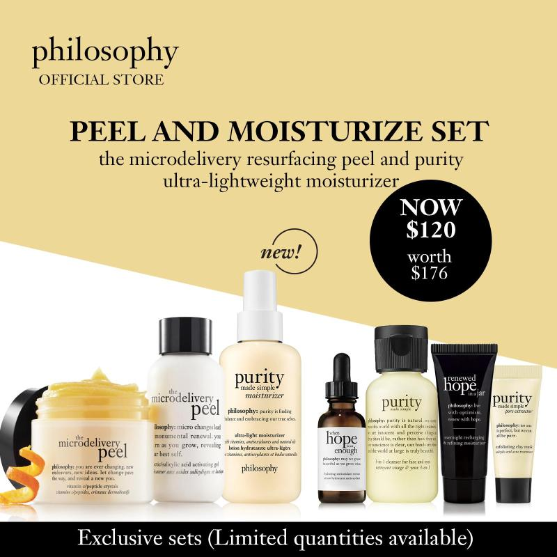 Buy Philosophy Peel and Moisturize Set (worth $176) Singapore
