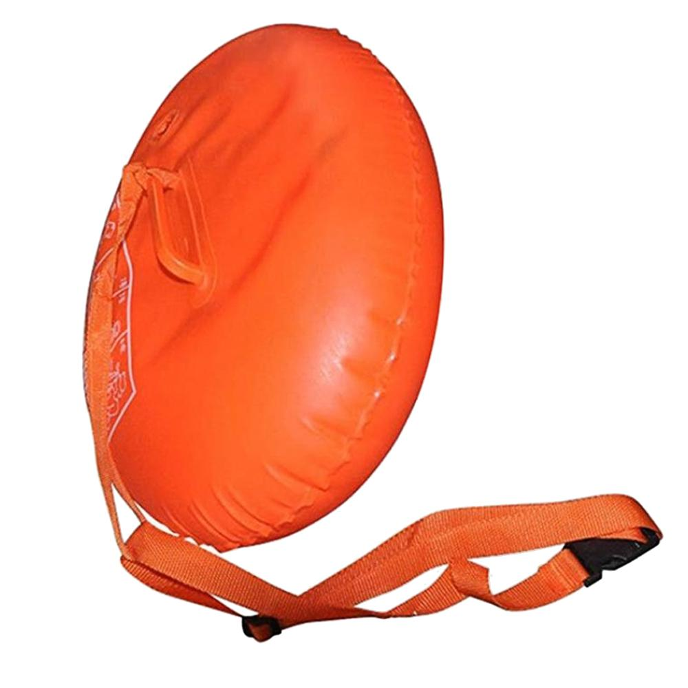 Safety Swim Rescue Device Double-Balloon Thickened Swimming Pool Inflatable Float Buoy With Adjustable Waist Belt For Adults Kids Orange By Duha.