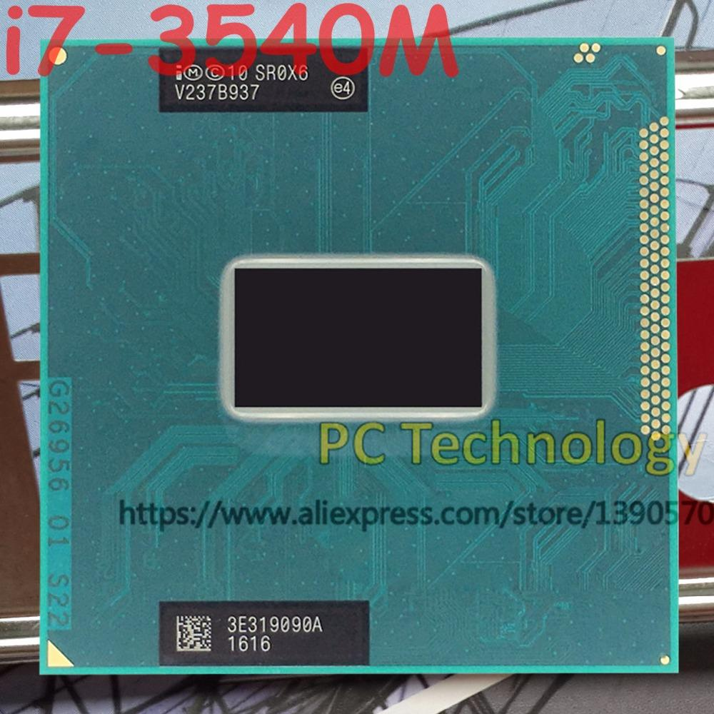 Asli Intel Core I7-3540M SR0X6 Cpu I7 3540 M Prosesor FCPGA988 3.00 GHz 4 M Dual Core-Intl