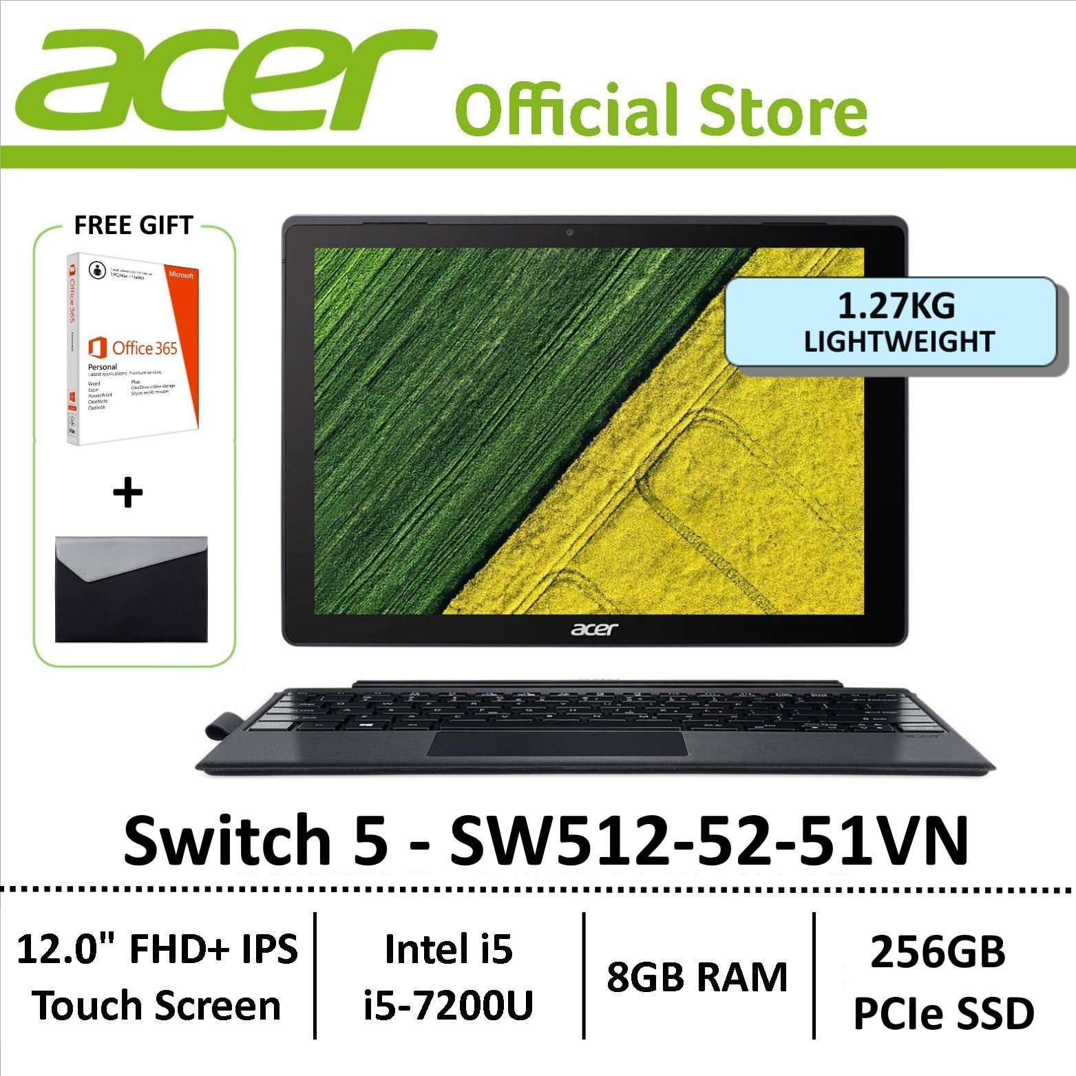 Acer Switch 5 SW512-52-51VN 2-in-1 Laptop