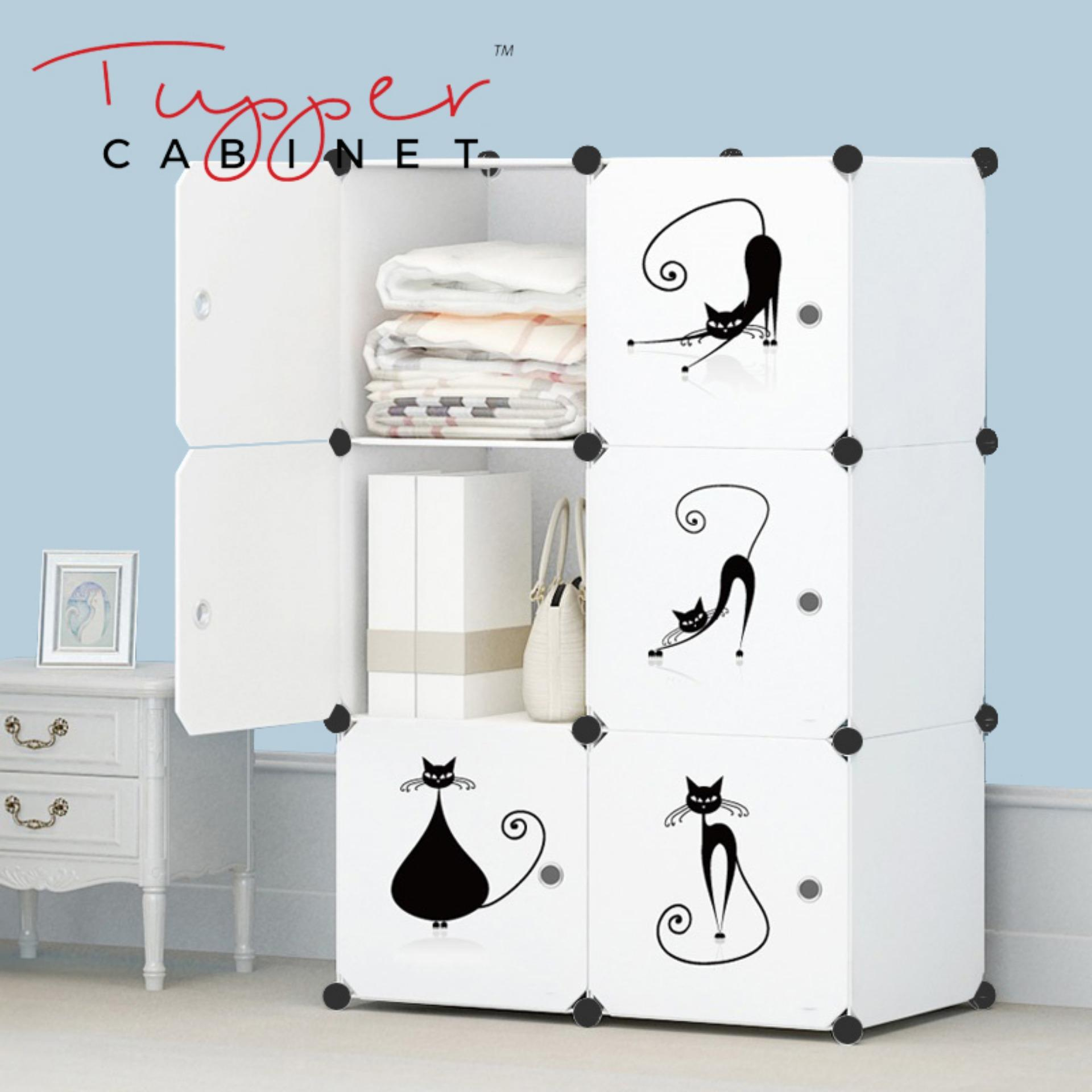 Sale Tupper Cabinet 6 Cubes Lazy Cat Diy Storage Cabinet Pure White Singapore Cheap