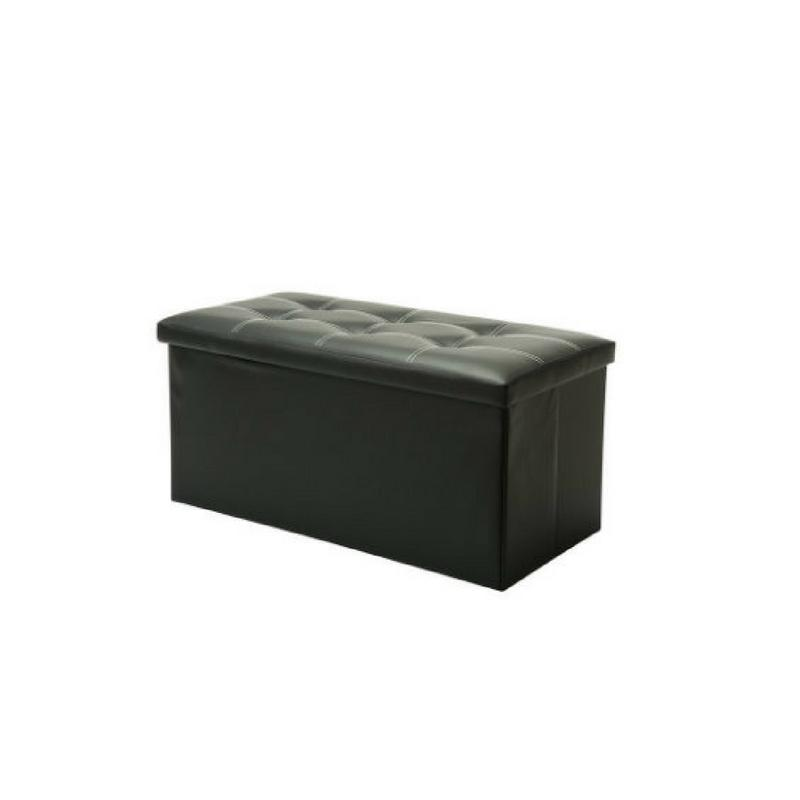 PU Leather Foldable Storage Bench (80L)