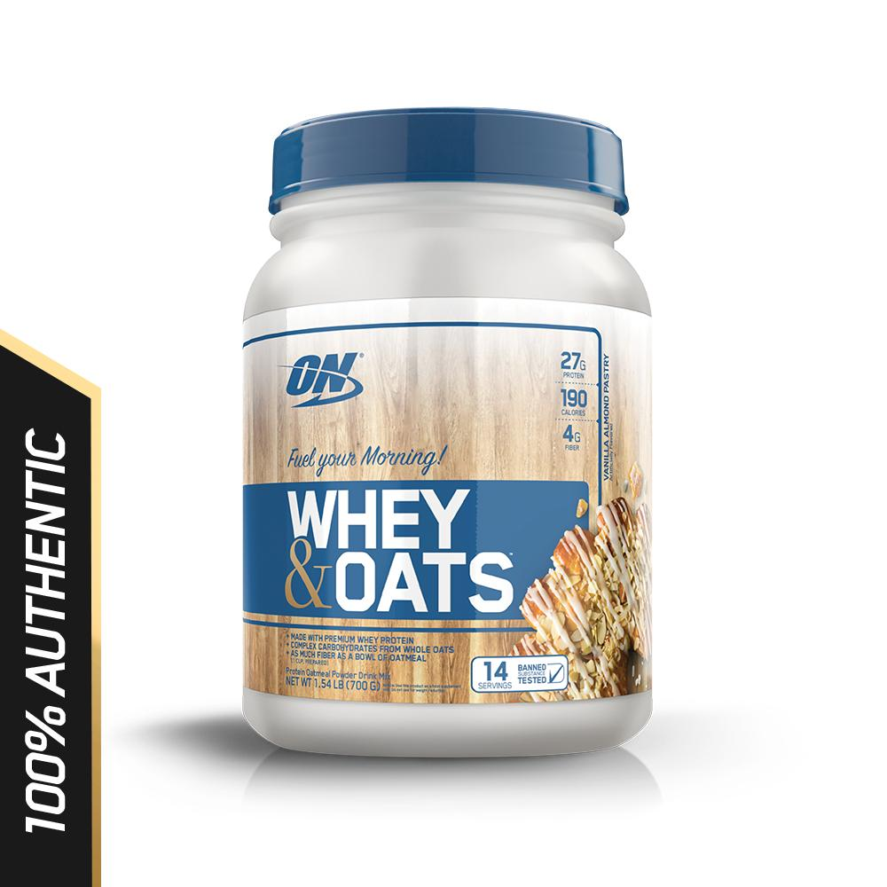 Optimum Nutrition Whey Oats 1 5 Lbs Vanilla Almond Pastry Coupon