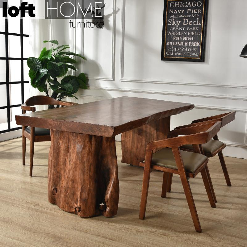 Dining Table – Whole Solid Wood / Solid Pine Wood / Customized Size and Colour