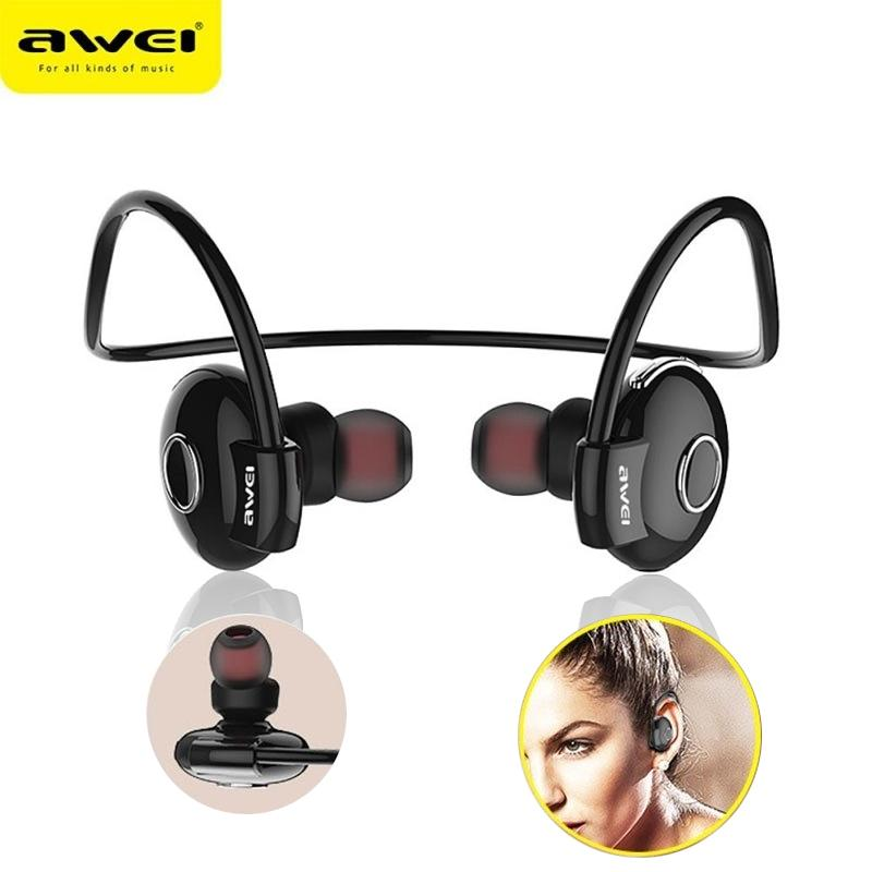 Who Sells Awei Bluetooth Earphones Earbuds V4 1 Noise Reduction Neckband Stereo A845Bl In Ear Headphones Headset Black Intl Cheap