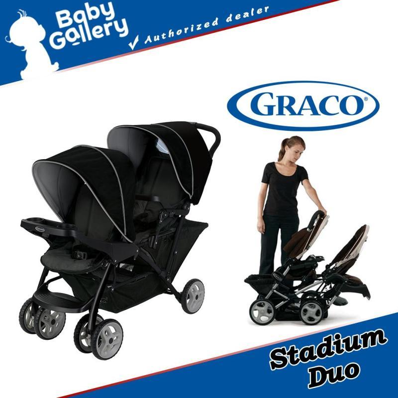Graco Stadium Duo Oxford Twin Strollers (Black Grey) Singapore