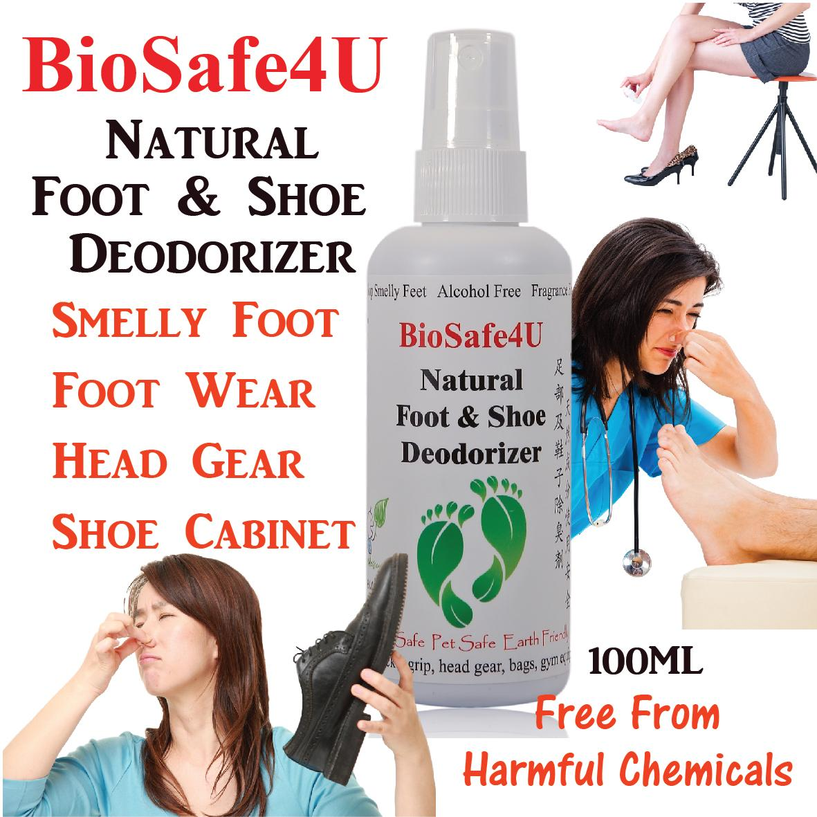 Store Biosafe4U Natural Foot Shoe Deodorizer Biosafe4U On Singapore