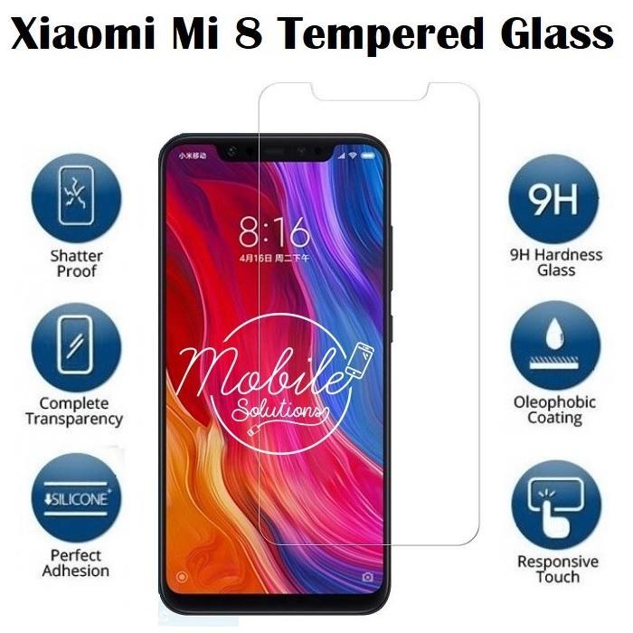 Xiaomi Mi 8 Tempered Glass Screen Protector (Clear)