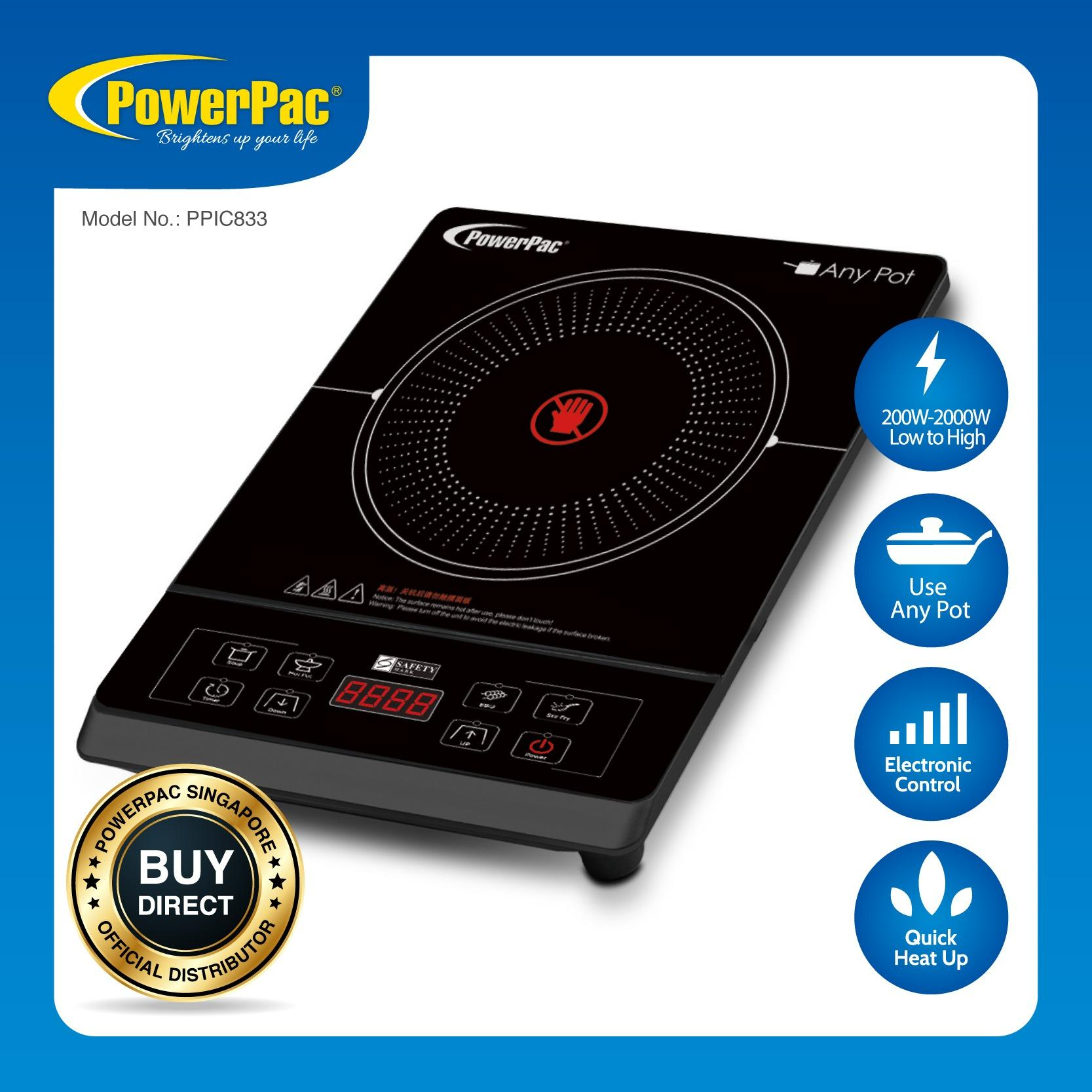 Promo Powerpac Ceramic Cooker Any Pot 2000 Watts Ppic833