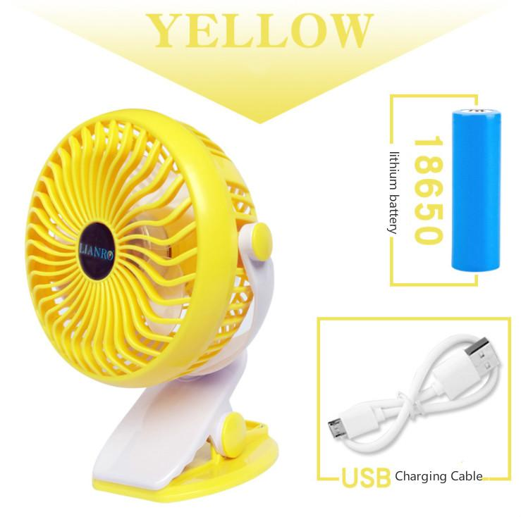 Buy Usb Mini Desk Fan Rechargeable And Adjustable Mini Clip Table Fan With 3 Speed Button Control For Car Baby Stroller Office Home Camping Intl On Singapore