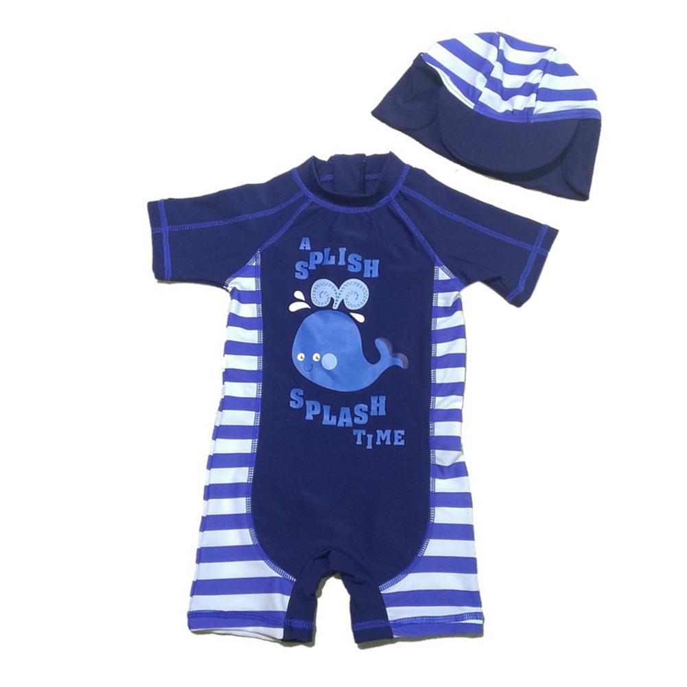 Baby Boys Whale One Piece B*k*n* Hat 2 Pcs Set Swimsuit Price Comparison