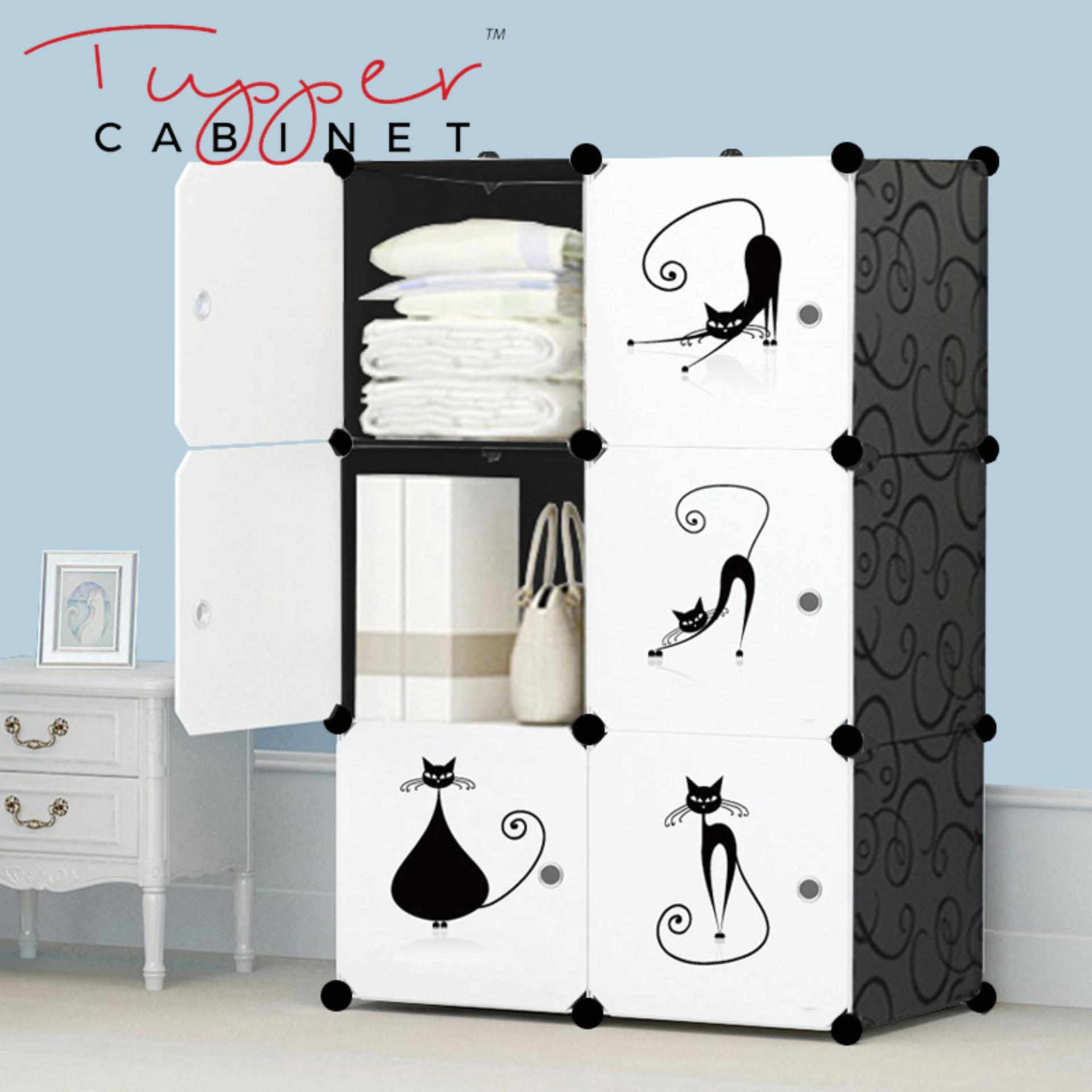 Discount Tupper Cabinet 6 Cubes Lazy Cat Diy Storage Cabinet Elegant Black Tupper Cabinet On Singapore