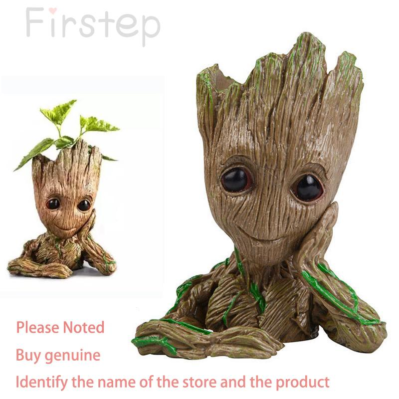 How To Get Groot 16Cm Action Figure Penholder Pvc Anime Twig Guardians Vessel Antistress Tree Flowerpot Decoration Gift