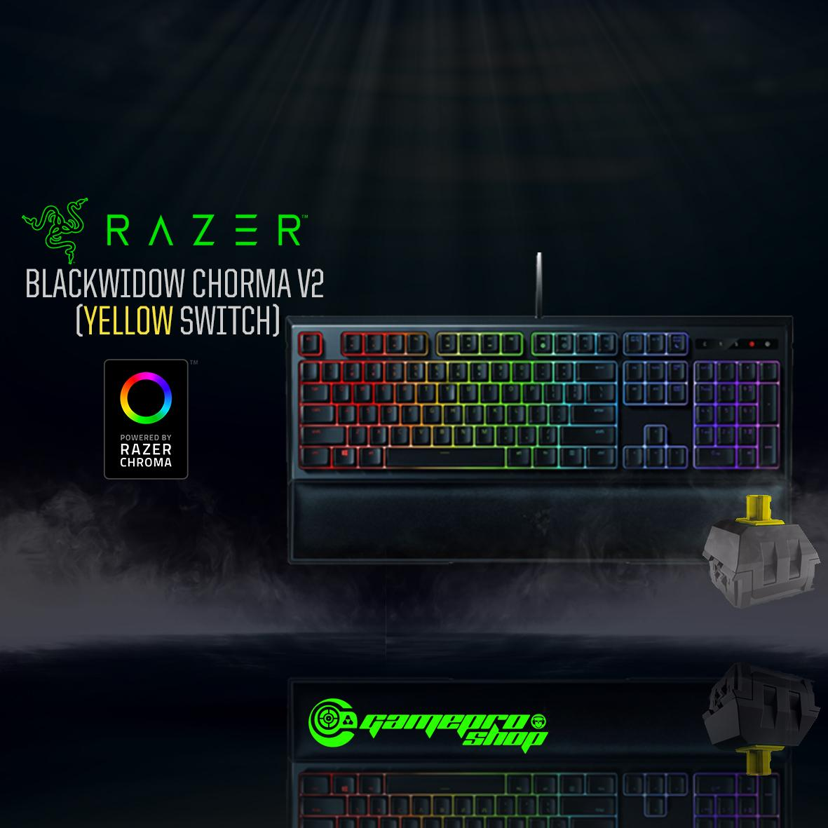 Razer Blackwidow Chroma V2 (YELLOW SWITCH) *GSS PROMO*