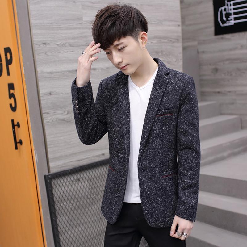 Setelan jas kecil pria membentuk tubuh Gaya Korea Tren anak muda Pria murid Musim Semi dan