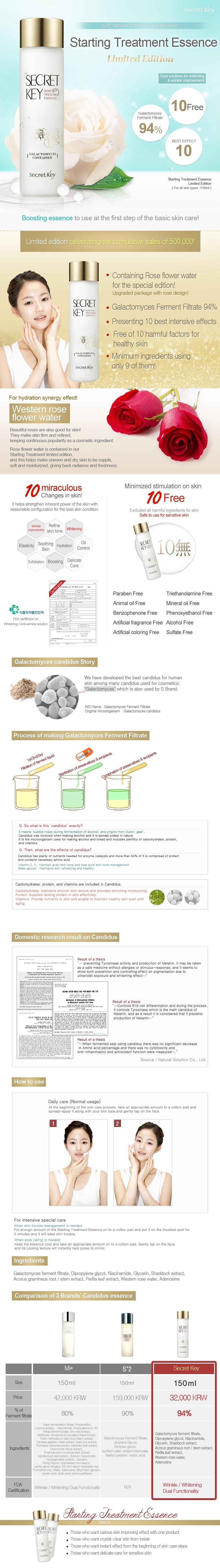 Secret Key Starting Treatment Essence Rose Edition 150ml Intl 7 Ml Specifications Of