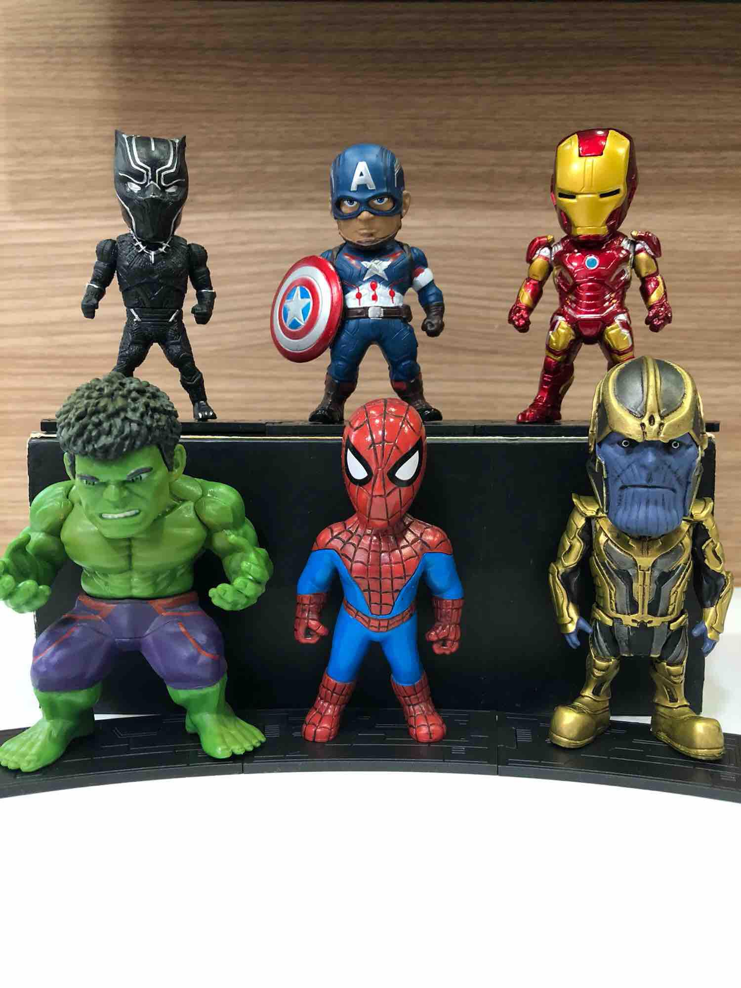 Marvel Legend Figures Captain America Iron Man Hulk Spider Man Black Panthet Thanos