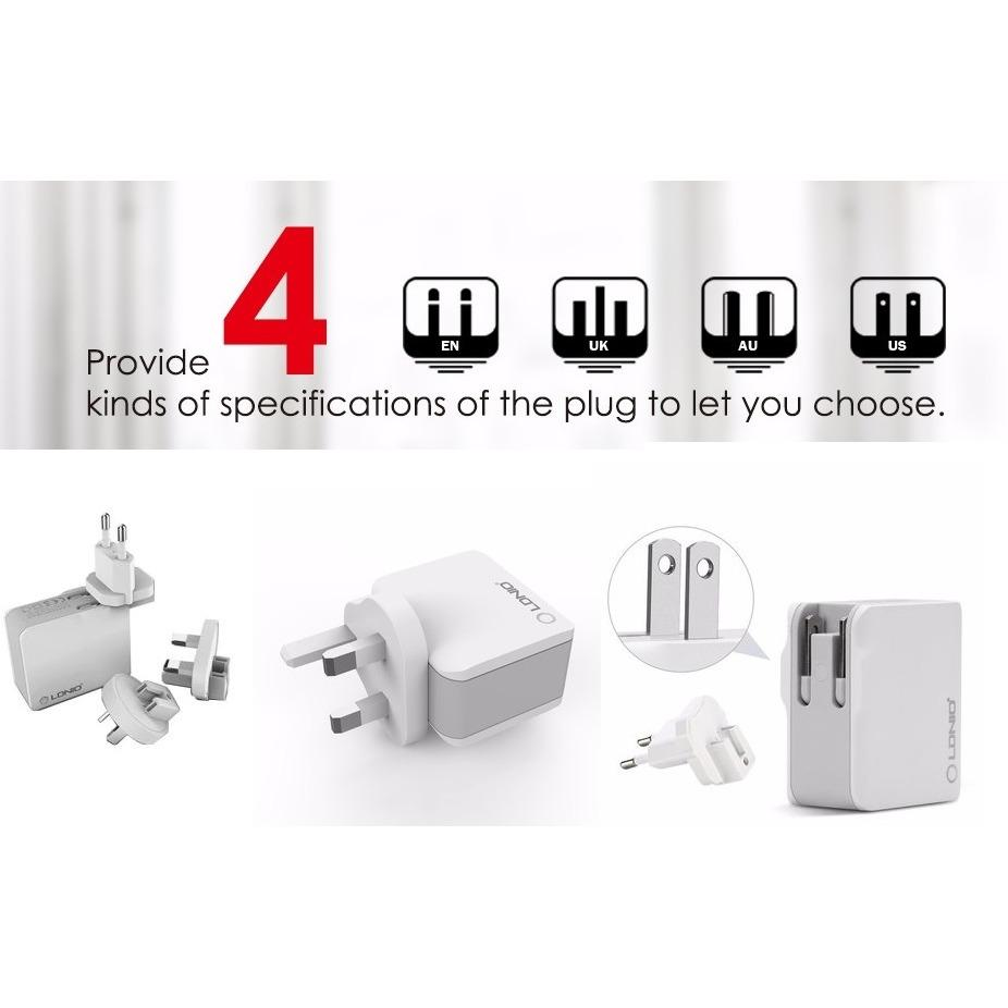 Discount Ldnio Best Buys A2203 4 Plugs Us Uk Au Eu Fast Ports Travel Charger Travel Adapter Singapore