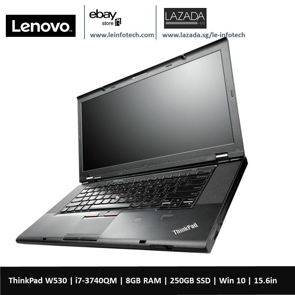 Lenovo ThinkPad W530 mobile workstation 15.6in LED Notebook i7-3740QM #2.7Ghz 8GB DDR3 RAM 250GB SSD nVidia Quadro Q1000M 2GB Graphics card Win 10 Pro 30 Days warranty
